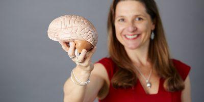 Kristen holding brain